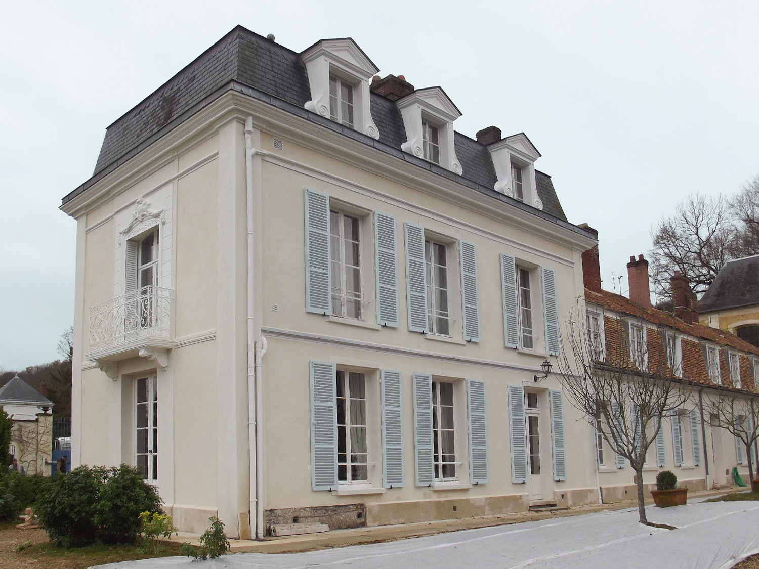PROTECFACADE_RAVALEMENT_RENOVATION_ISOLATION_FACADE_NORMANDIE_LOUVIERS_ENDUIT_ANCIEN_CHANTIER